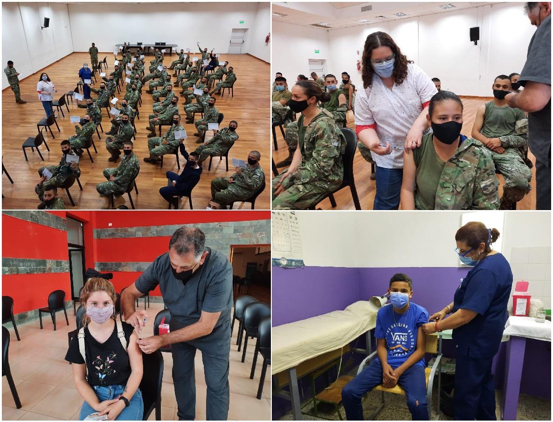 Plan Rector de Vacunación: Ayer recibieron su primera dosis adolescentes de 12 a 17 años y voluntarios de Ejército
