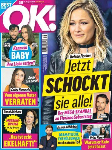 Cover: Ok! Das Exklusiv-Magazin der Stars No 35 vom 25  August 2021