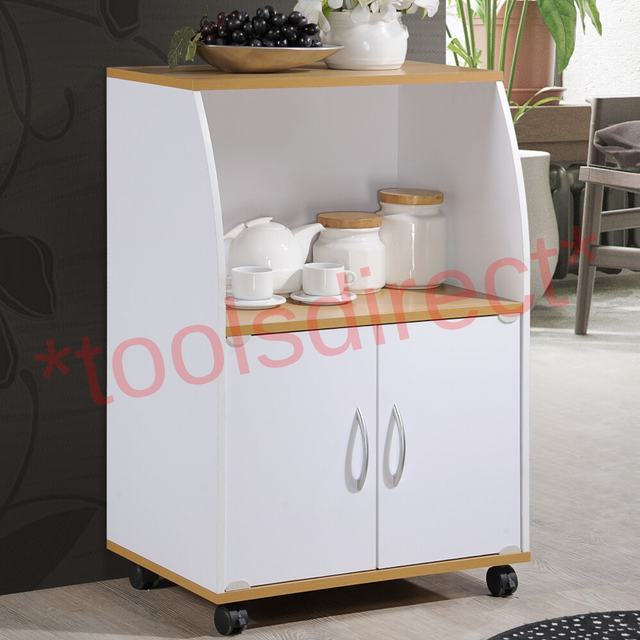 Bakers Rack Microwave Stand Rolling Kitchen Cart Oven Storage Pantry Cabinet 745751463468 Ebay