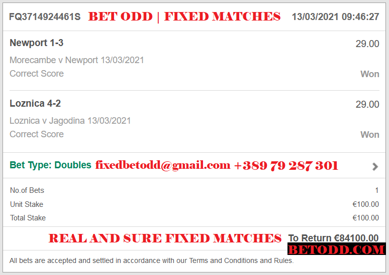 BET ODD CORRECT SCORE FIXED MATCHES | DOUBLE CORRECT SCORE