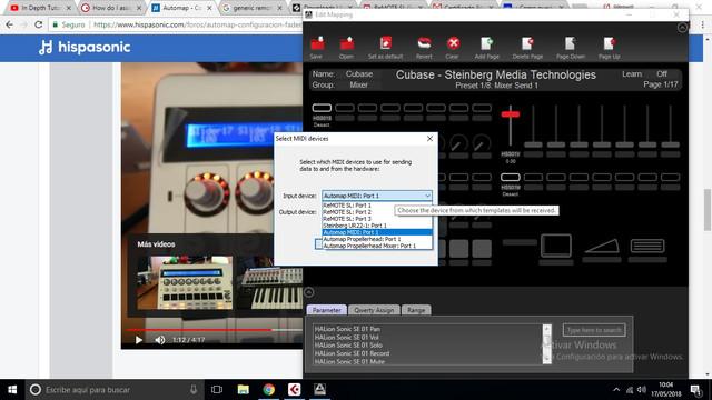 17052018 Configuracion Faders Novation Map Editor 02
