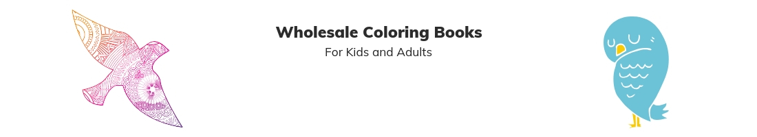 Bulk coloring books for kids and adult coloring books wholesale
