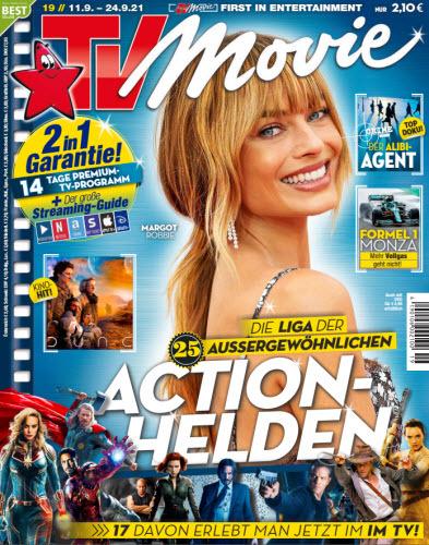 Cover: Tv Movie Fernsehzeitschrift No 19 vom 11  September 2021