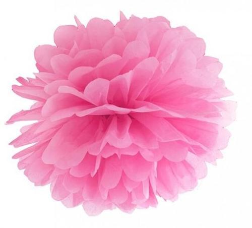 მუქი ვარდისფერი პომპონი 35 სმ