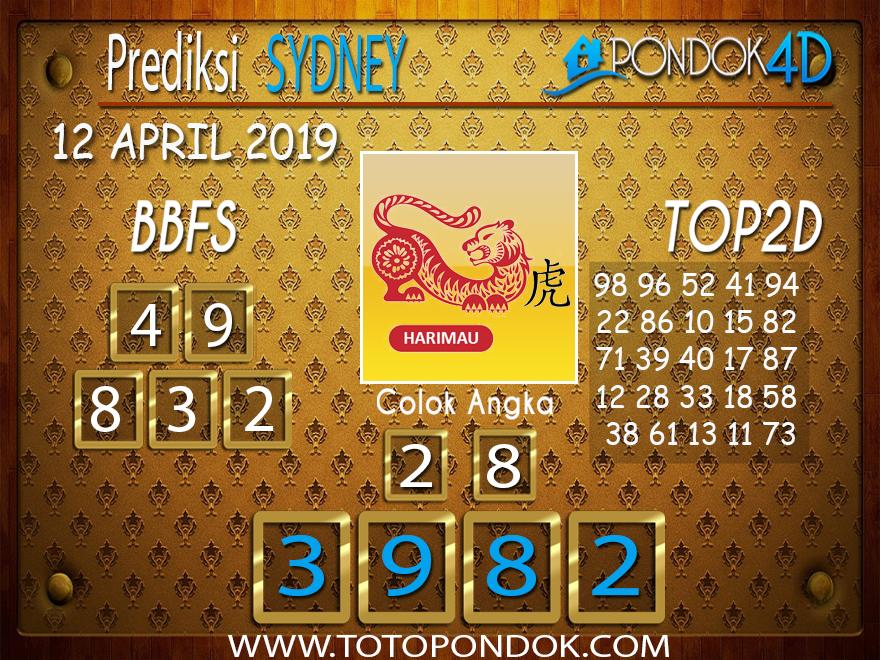 Prediksi Togel SYDNEY PONDOK4D 12 APRIL 2019