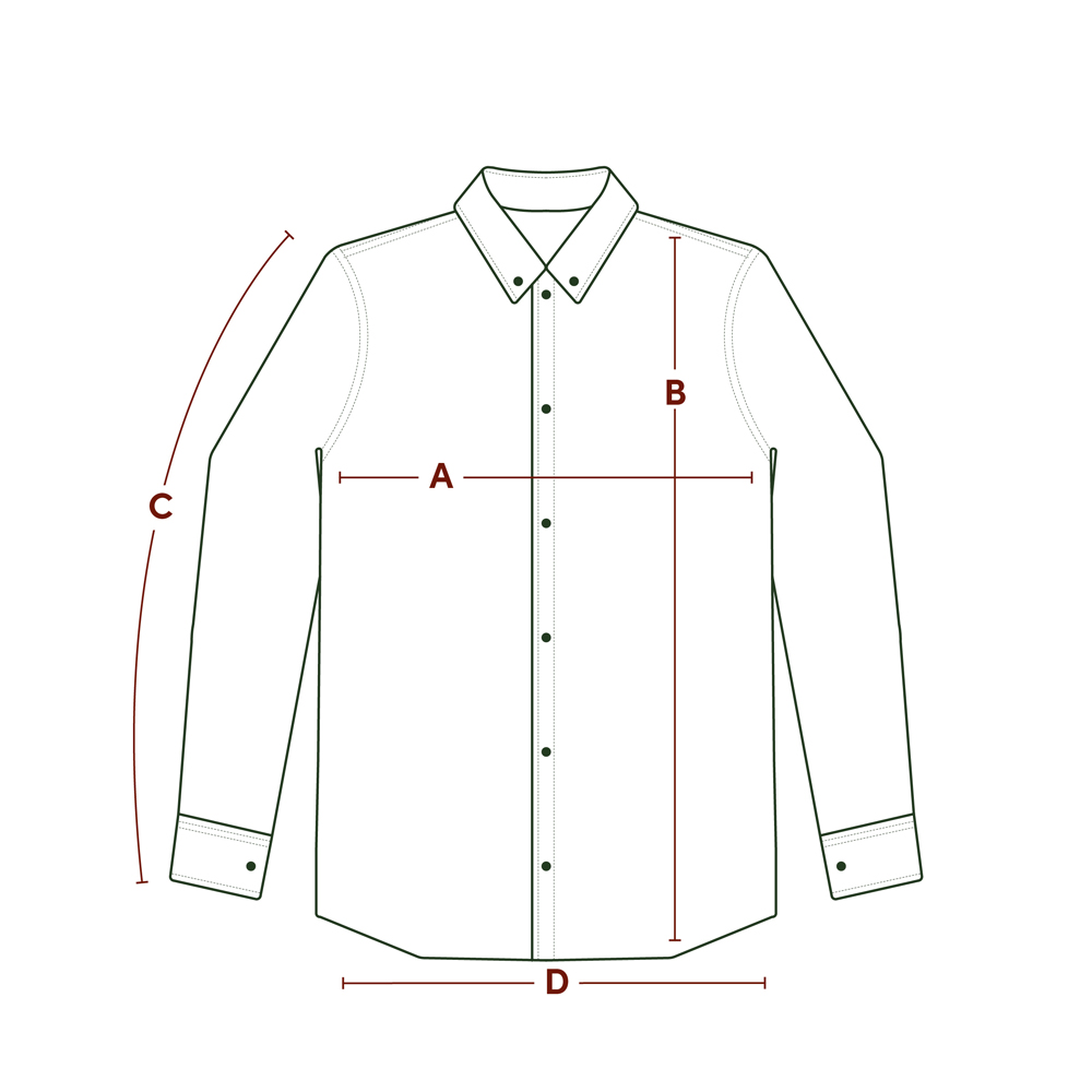 P P Size Diagram LS Shirt