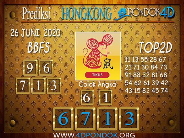 Prediksi Togel HONGKONG PONDOK4D 26 JUNI 2020