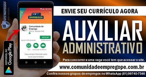 AUXILIAR ADMINISTRATIVO COM SALÁRIO DE R$ 1200,00 PARA OLINDA