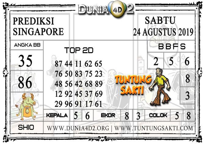 """Prediksi Togel """"SINGAPORE"""" DUNIA4D2 24 AGUSTUS 2019"""