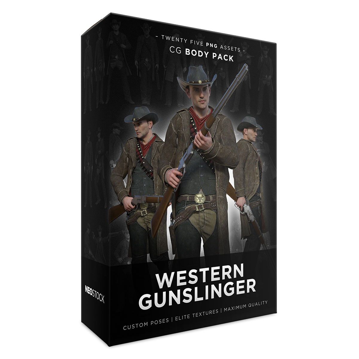 cg western gunslinger product box sales