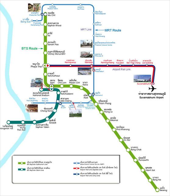 Bangkok Transit Map