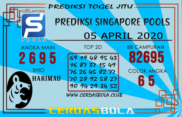 Prediksi Togel SINGAPORE CERDASBOLA 05 APRIL 2020