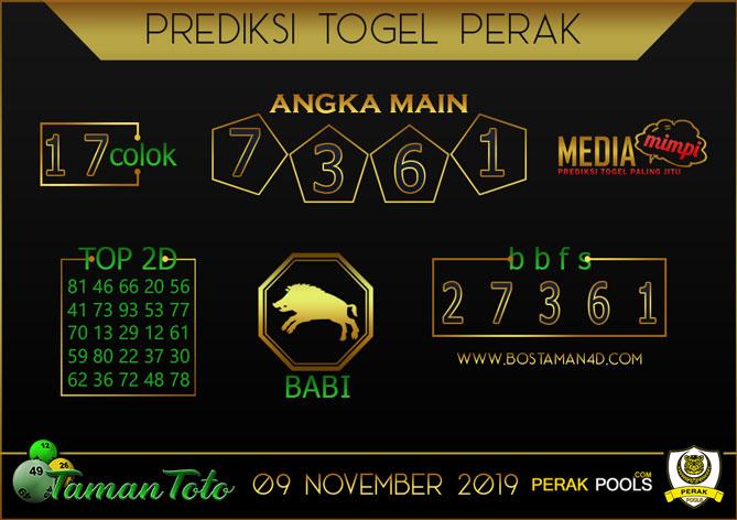 Prediksi Togel PERAK TAMAN TOTO 09 NOVEMBER 2019