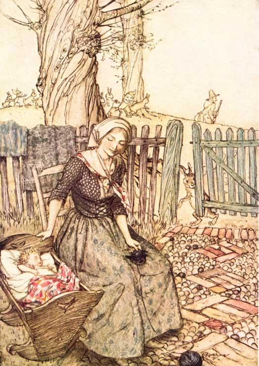 Rackham-Arthur-Mother-Goose-Bye-Baby-Bunting