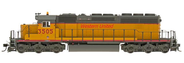 Western United RR Engine