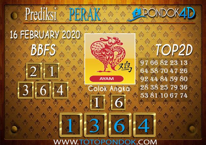 Prediksi Togel PERAK PONDOK4D 15 FEBRUARY 2020