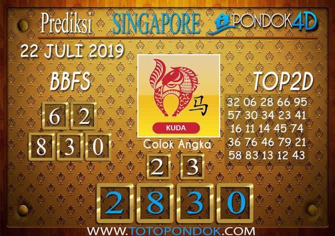 Prediksi Togel SINGAPORE PONDOK4D 22 JULI 2019