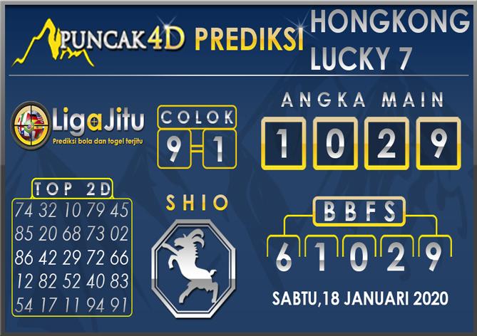PREDIKSI TOGEL HONGKONG LUCKY7 PUNCAK4D 18 JANUARI 2020