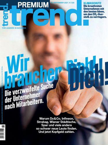 Cover: Trend Premium Wirtschaftsmagazin No 09 vom 10  September 2021