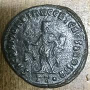 Nummus de Maximiano Hércules. SACRA MONET AVGG ET CAESS NOSTR. Moneda a izq. Ticino 23-E51-F43-2-FD5-4-B32-B90-D-F0-C7-BDDDD566