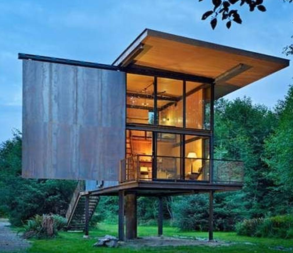 Desain Rumah Kecil dengan Nuansa Rumah Panggung