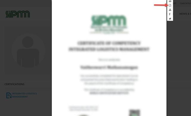 Certificate - SIPMM ONLINE LEARNING