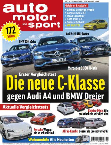Cover: Auto Motor und Sport Magazin No 17 vom 12  August 2021