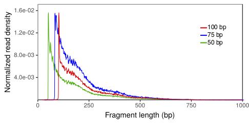 Insert size distribution