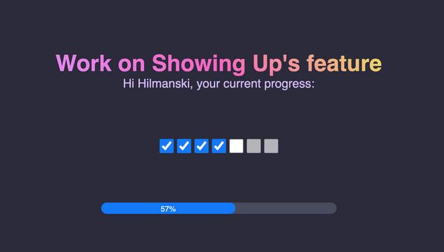 progress counter screenshot