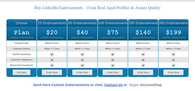 Buy-Linked-In-Endorsements