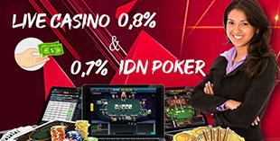 Bonus Live Casino dan IDN Poker