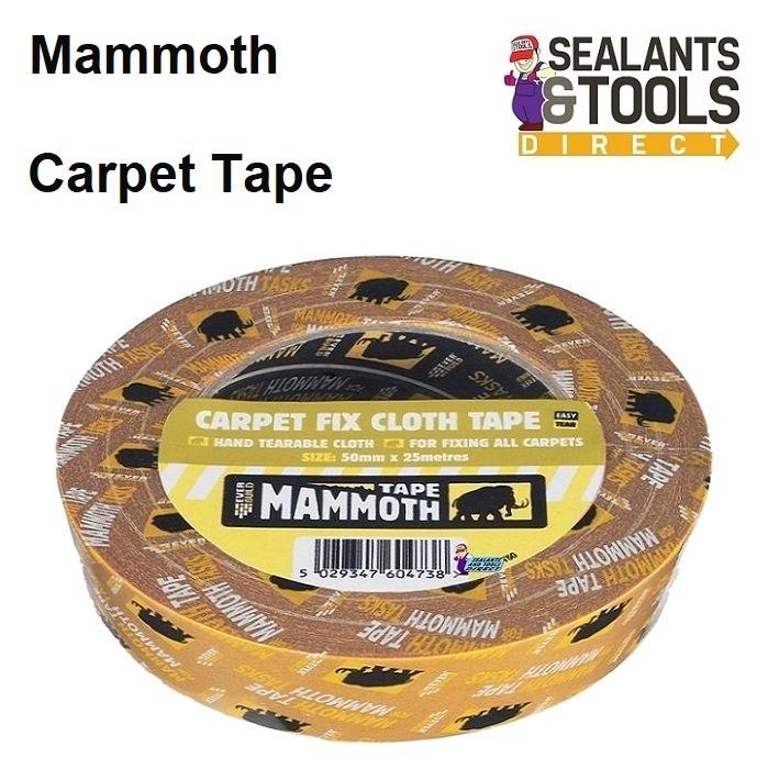 Everbuild Mammoth Carpet Fix Cloth Tape 50mm 2CARPT50