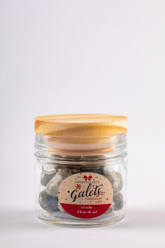 Galet gris chocolat lait croustillant (bomboane de ciocolata cu sare de mare si interior crocant de biscuiti) 50g