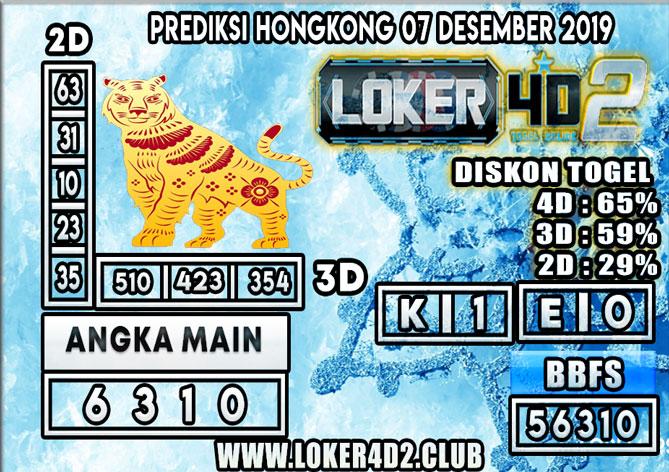 PREDIKSI TOGEL HONGKONG POOLS LOKER4D2 07 DESEMBER 2019