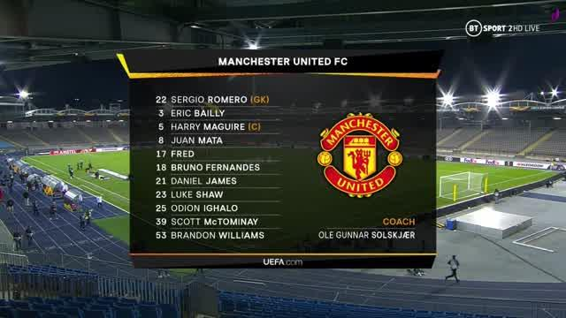 12-03-2020 - LASK 0-5 Manchester United
