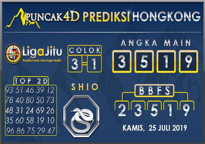PREDIKSI TOGEL HONGKONG PUNCAK4D 25 JULI 2019