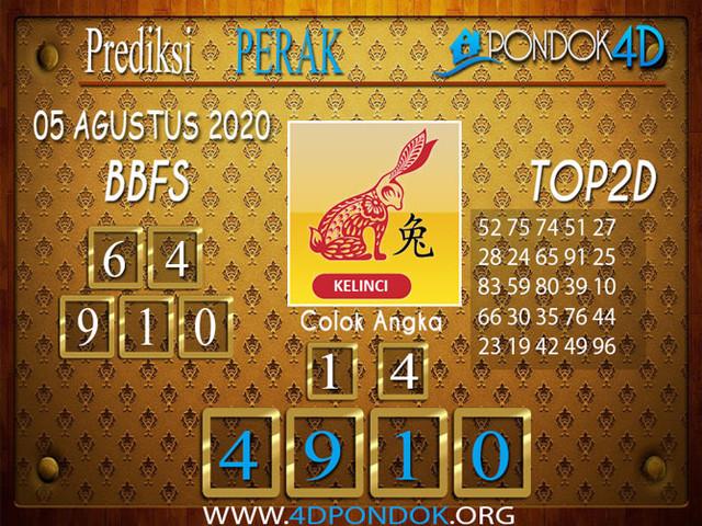 Prediksi Togel PERAK PONDOK4D 05 AGUSTUS 2020