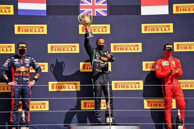 F1 GP de Grande-Bretagne 2020 : Victoire de lewis Hamilton sur trois roues 1046883