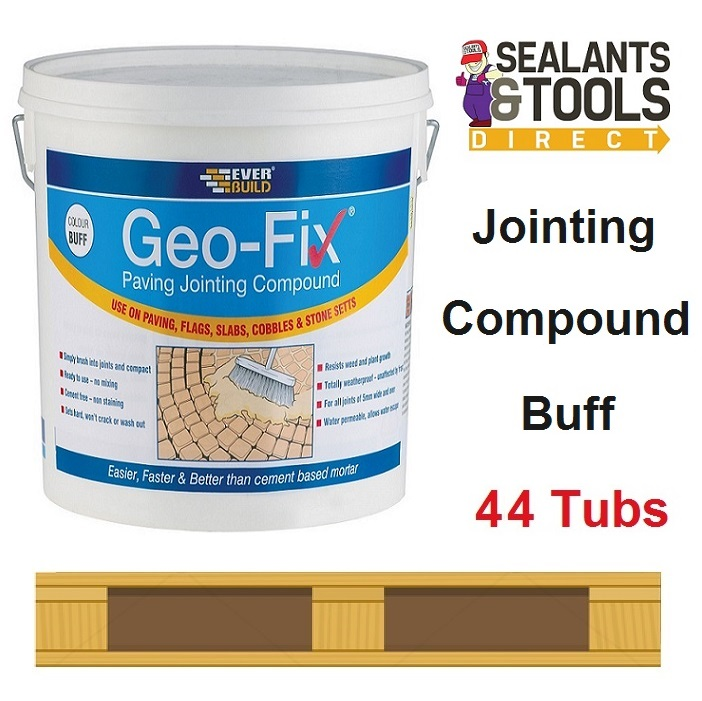 Everbuild Geo-Fix Paving Jointing Compound Buff - 44 Tub Pallet Deal