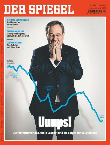 Cover: Der Spiegel Nachrichtenmagazin No 37 vom 11  September 2021
