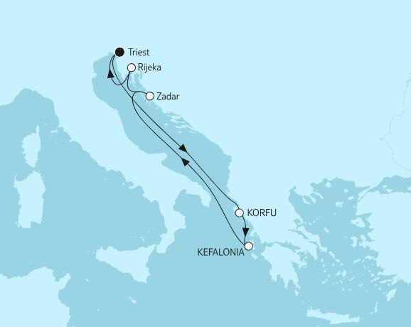 Жемчужина Адриатики - Хорватия и греческие острова в круизе на TUI Mein Schiff 6