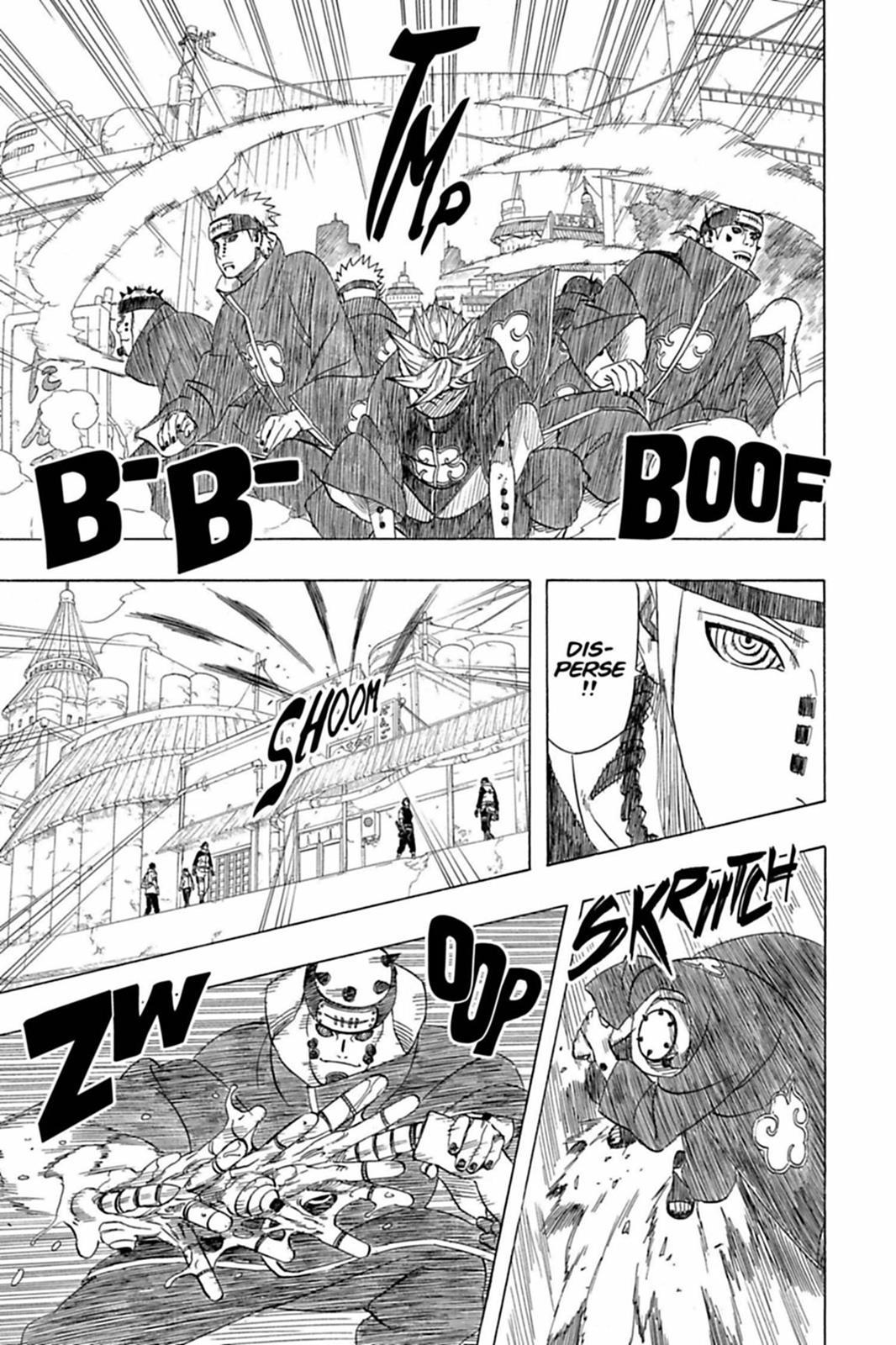 O péssimo desempenho de Pain contra Naruto 0419-005