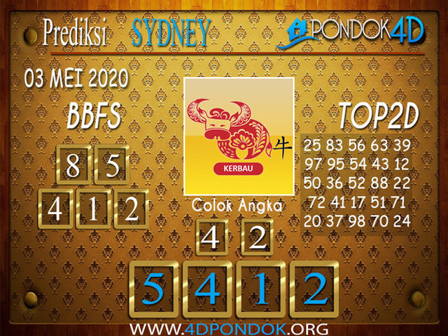 Prediksi Togel SYDNEY PONDOK4D 03 MEI 2020