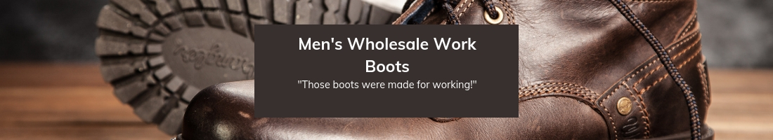 Mens wholesale work boots