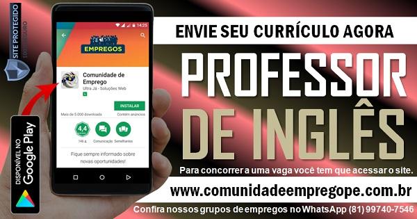 PROFESSOR DE INGLÊS PARA INSTITUIÇÃO DE ENSINO EM PIEDADE