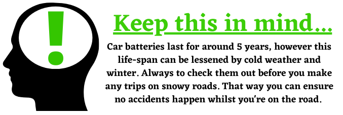 Road traffic accidents and car batteries