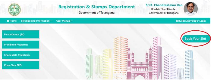 Slot booking in Telangana