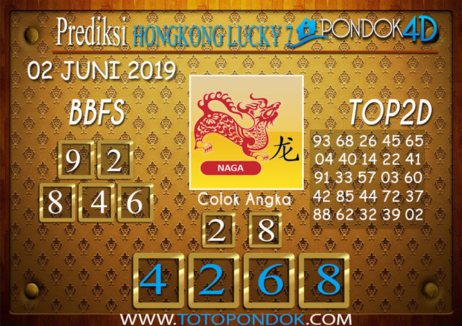 Prediksi Togel HONGKONG LUCKY 7 PONDOK4D 02 JUNI 2019