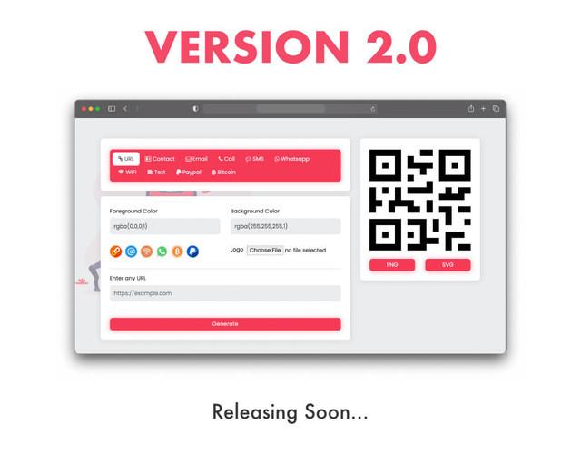 PHP QR Code generator vrsion 2.0