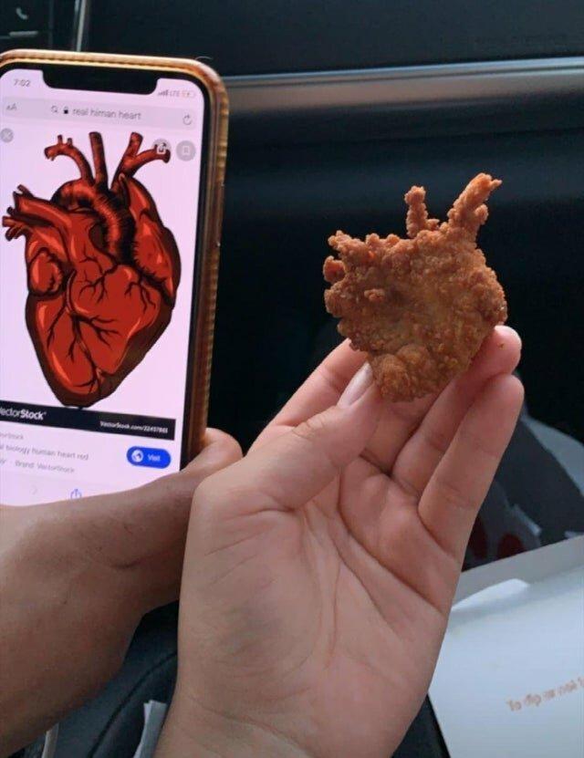 Наггетс в форме сердца